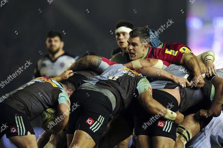 Nick Easter of Harlequins in action