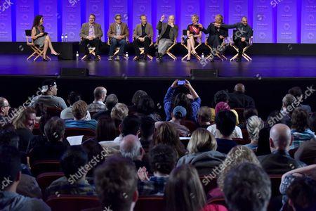 Debra Birnbaum, Vince Gilligan, Peter Gould, Bob Odenkirk, Michael McKean, Rhea Seehorn, Patrick Fabian and Michael Mando