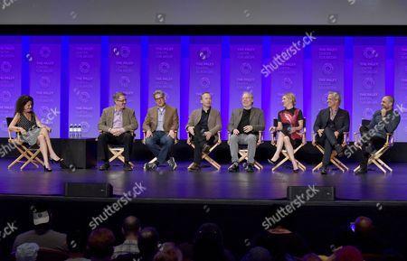 Debra Birnbaum, Vince Gilligan, Peter Gould, Bob Odenkirk, Michael McKean, Rhea Seehorn, Bob Odenkirk and Michael Mando