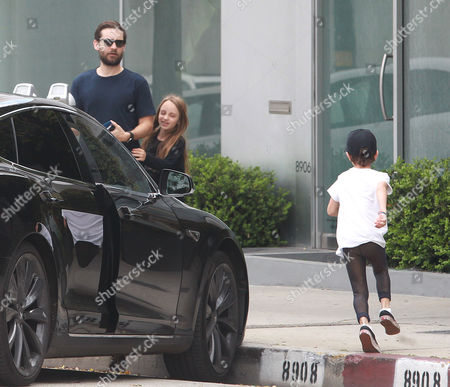 Stock Photo of Tobey Maguire and children, Ruby Maguire, Otis Maguire