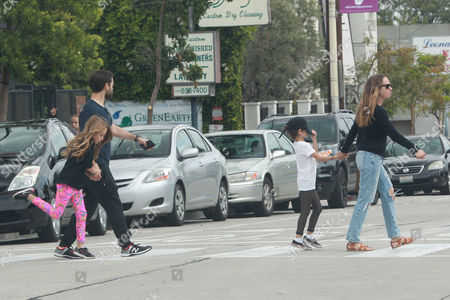 Editorial picture of Tobey Maguire and family out and about, West Hollywood, Los Angeles, America - 13 Mar 2016