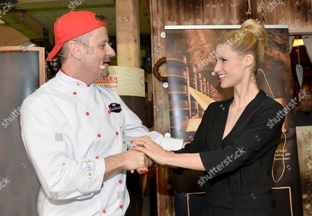 Editorial picture of Michelle Hunziker Swiss Emmental cheese promotion, Karlsruhe, Germany - 13 Mar 2016