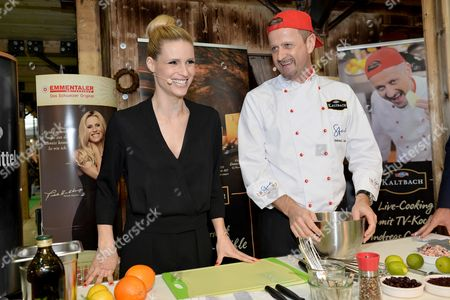 Editorial photo of Michelle Hunziker Swiss Emmental cheese promotion, Karlsruhe, Germany - 13 Mar 2016