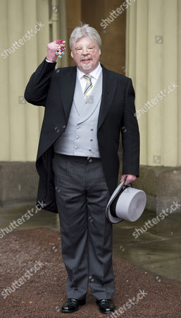 Simon Weston after being presented his CBE for charitable services