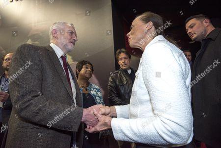 Jeremy Corbyn and Doreen Lawrence meet Lonnie Ali