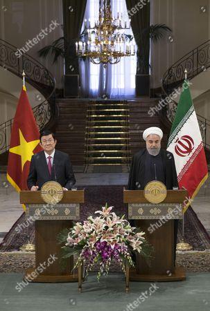 Hassan Rouhani and Truong Tan Sang
