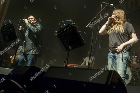 Editorial image of Paul Heaton and Jacqui Abbott in concert at the O2 Academy, Glasgow, Scotland, Britain - 14 Mar 2016