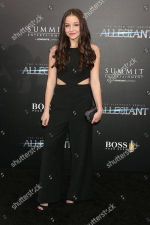 Editorial picture of 'The Divergent Series: Allegiant' film premiere, New York, America - 14 Mar 2016