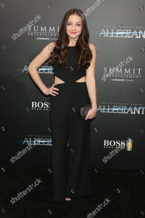 Editorial image of 'The Divergent Series: Allegiant' film premiere, New York, America - 14 Mar 2016