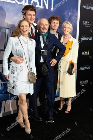 Ansel Elgort with parents Grethe Barrett Holby and Arthur Elgort, photographer and his siblings