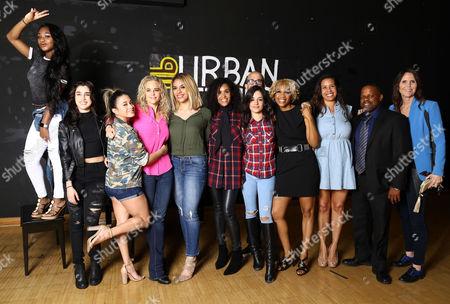 Fifth Harmony, Camila Cabello, Lauren Jauregui, Normani Kordei, Ally Brooke, Dinah Jane Hansen, Urban Fitness 911 Founders and Boardmembers