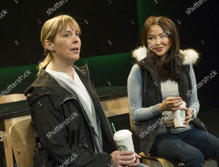 Mel Giedroyc as Amy, Elizabeth Tan as Stephanie