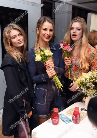 Laura Doggett, Vogue Williams and Valerie Van Der Graaf