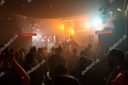 Editorial image of Andrew Weatherall in concert at the Hare and Hounds, Birmingham, Britain - 12 Mar 2016