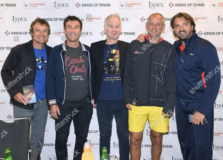 Mats Wilander, Pat Cash, John McEnroe, Thomas Muster and Henri Leconte