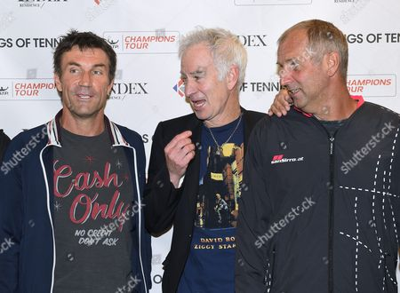 Pat Cash, John McEnroe and Thomas Muster