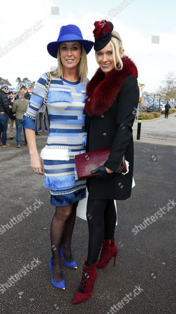 Chanelle McCoy with Carla Kyle on Ladies Day Cheltenham