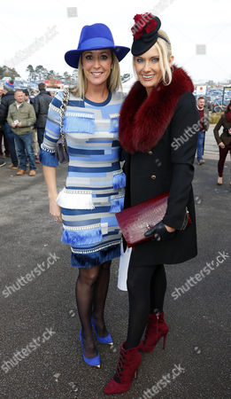 Stock Photo of Chanelle McCoy with Carla Kyle on Ladies Day Cheltenham