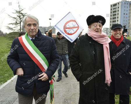 Stock Image of Giuliano Pisapia, Dario Fo