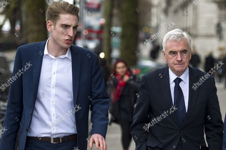 Shadow Chancellor John McDonnell (Right) with Seb Corbyn, Son of Jeremy Corbyn