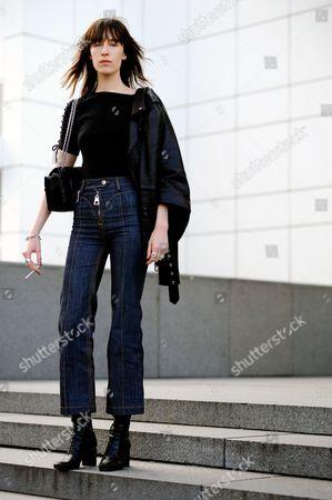 Editorial image of Street Style, Autumn Winter 2016, Paris Fashion Week, France - 06 Mar 2016