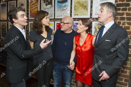 Alexander Hanson (Michel), Frances O'Connor (Alice), Lindsay Posner (Director), Tanya Franks (Laurence) and Robert Portal (Paul)