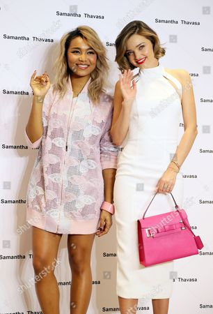 Stock Picture of Crystal Kay and Miranda Kerr