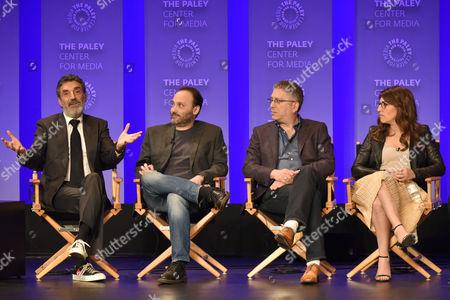 Chuck Lorre, Steven Molaro, Bill Prady and Mayim Bialik