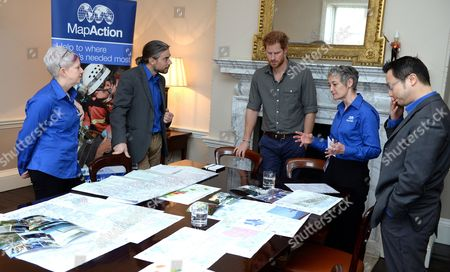 Editorial photo of Prince Harry Attends MapAction Briefing Ahead Of Nepal Tour, London, Britain - 16 Mar 2016
