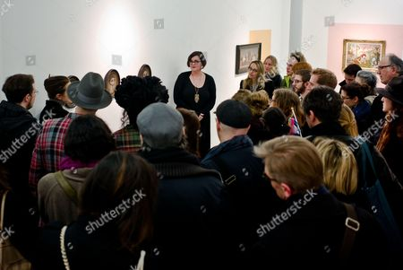 Editorial photo of Marion Peck exhibition opening, Magda Danysz Gallery, Paris, France - 15 Mar 2016