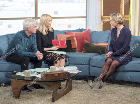 Holly Willoughby and Phillip Schofield with Lisa Hilton