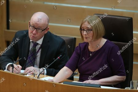 Paul Grice, Chief Executive of The Scottish Parliament, and Rt Hon Tricia Marwick, The Presiding Office of The Scottish Parliament