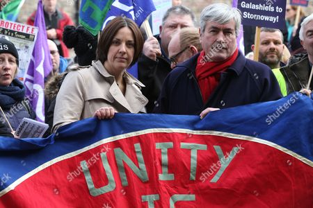 Kezia Dugdale, Leader of the Scottish Labour Party, and Iain Gray MSP