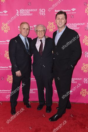 Stock Photo of Scott Ellis, Sheldon Harnick and Warren Carlyle