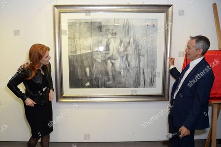 Editorial picture of Children in Crisis private viewing and auction, London, Britain - 17 Mar 2016