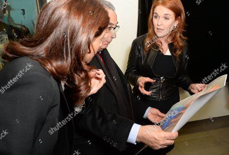 Marion Easton, Nasser Khalili and Sarah Ferguson Duchess of York