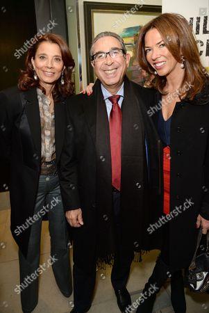Marion Easton, Nasser Khalili and Heather Kerzner