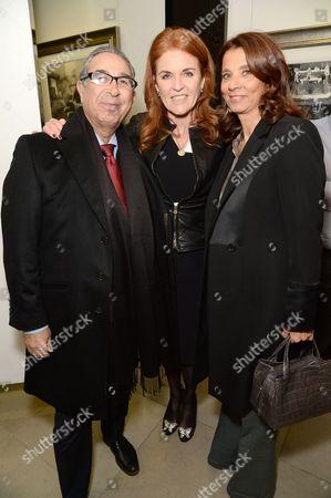 Nasser Khalili, Sarah Ferguson Duchess of York and Marion Easton