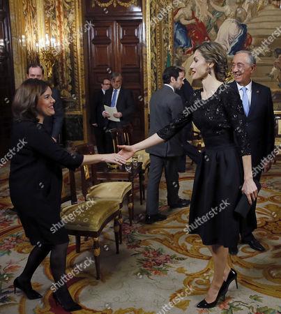Editorial photo of Portugese President Marcelo Rebelo de Sousa visit to Madrid, Spain - 17 Mar 2016