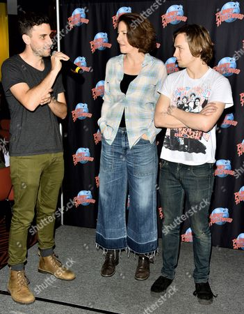 Editorial photo of Logan Miller and Robin Weigert visit Planet Hollywood, New York, America - 17 Mar 2016