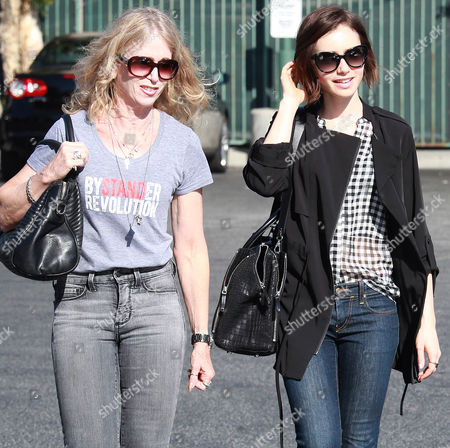Lily Collins and mother Jill Tavelman