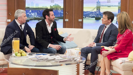 Stock Photo of Marvin Berglas and Jamie Raven with Ben Shephard and Kate Garraway