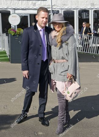 Jeremy Kyle With Wife Carla Germaine At The Cheltenham Festival Cheltenham Gloucs. Cheltenham Festival 2015:.