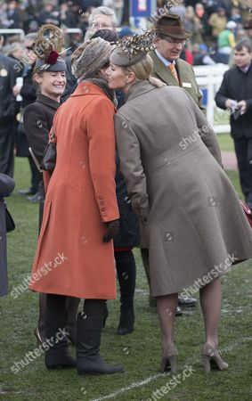 Princess Anne And Zara Philips Watch The Vincent O'brien County Handicap Hurdle Race At The Cheltenham Festival On Gold Cup Friday Cheltenham Gloucs. Cheltenham Racing Festival 2015.
