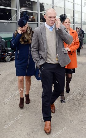 Mike Tindall And Zara Philips Arrive At Cheltenham Festival On The St.patrick's Day Thursday Cheltenham Gloucs. Cheltenham Racing Festival 2015.