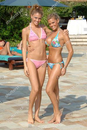 Sofia Bruscoli, Miss World Italy and Keren Shacham, Miss World Israel