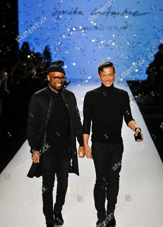 Kirk Pickersgill and Stephen Wong on the catwalk
