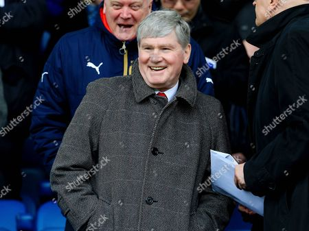 Former Arsenal Assistant Manager Pat Rice watches from the stands