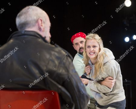 Stock Picture of Kevin McMonagle as Paul, Alistair Cope as Foster, Denis Gough as Emma