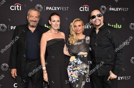 Stock Image of Dick Wolf, Noelle Lippman, Nicole Coco Austin and Ice T
